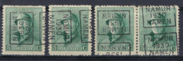 Koning Albert I Met Helm Nr. 167 Voorafgestempeld Nr. 5271 A + B + C + D  NAMUR 1930 NAMEN ; Staat Zie Scan ! RRR - Roulettes 1930-..