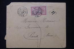 FRANCE - Enveloppe En Recommandé De Bourges Pour Paris En 1902, Affranchissement Merson  - L 90523 - 1877-1920: Semi-Moderne