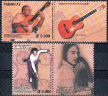 Paraguay 2015. Famous People. Echeverría (music). Prieto (Cycling).  MNH - Paraguay