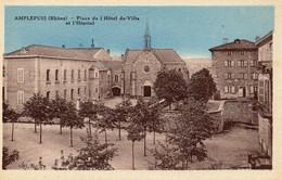 Amplepuis - Place De L'hôtel De Ville Et L'hôpital - Amplepuis