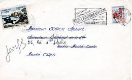 (L510) Guerre France-Monaco ! Enveloppe Expédiée à Monaco Et Taxée à L'arrivée - 1962-65 Coq De Decaris