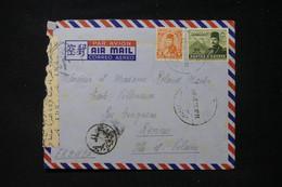 EGYPTE - Enveloppe De Alexandrie Pour La France Avec Contrôle Postal - L 90535 - Lettres & Documents