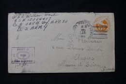 ETATS UNIS - Entier Postal D'un Soldat En 1944 Pour La France Avec Cachet De Contrôle Postal - L 90536 - 1941-60