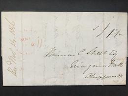 CANADA 1846 Entire - Niagara To Niagara Falls - 3 Scans - ...-1851 Prefilatelia
