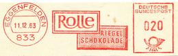 Freistempel Kleiner Ausschnitt 502 Riegel Schokolade Lebensmittel - Affrancature Meccaniche Rosse (EMA)