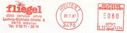 Freistempel Kleiner Ausschnitt 527 Fliege - Affrancature Meccaniche Rosse (EMA)