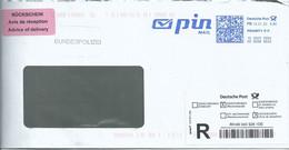 Ema Neopost Utilisée Par Une Poste Privée Pin Mail - Lettre Recommandée Pour La France - Marcofilia - EMA ( Maquina De Huellas A Franquear)