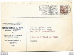 """I - 48 - Enveloppe Avec Superbe Oblit Mécanique """"2ème Millénaire De Genève 1942"""" - Briefe U. Dokumente"""