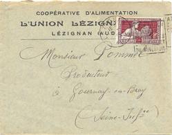 LEZIGNAN AUDE DAGUIN 1925 COOPÉRATIVE D'ALIMENTATION – ARTS DÉCORATIFS POTIER 25 C. YT 212 - 1921-1960: Période Moderne