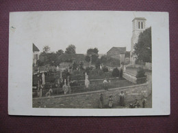 CPA PHOTO 21 GRENAND AGEY ? Probablements Les Environs De SOMBERNON L'Eglise Et Le Cimetiere ANIMEE RARE ! Canton TALANT - Altri Comuni