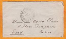 Octobre 1918 - Enveloppe Et Lettre Familiale De 3 P.  écrite à Bord Du Croiseur Jules Michelet En Grèce Vers Nîmes, Gard - Seepost