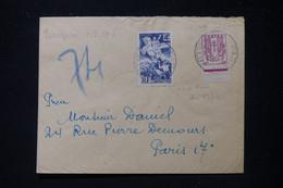 FRANCE - Enveloppe En Pneumatique De Paris Pour Paris En 1945, Affranchissement Libération / Chaîne - L 90556 - 1921-1960: Modern Period