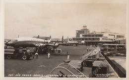 CPA - Aéroport De Congonhas ( Brésil ) - Locheed Super G Constellation De La Lufthansa - Aerodromes