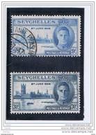 SEYCHELLES:  1946  ANNIVERSARIO  VITTORIA  -  S. CPL. 2  VAL. US. -  YV/TELL. 142/43 - Seychellen (...-1976)