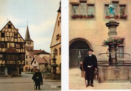 TURCKHEIM  ( 68  )   LE  VEILLEUR  DE  NUIT  -  2  C P M  - ( 21 / 3 / 61  ) - Turckheim