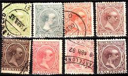 SPAIN 1889 Alfons XIII As Child. 8v. Used, 1 Mint No Gum - Oblitérés