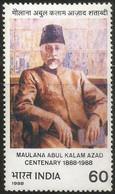 INDIA 1988 STAMP MAULANA ABUL KALAM AZAD (FREEDOM FIGHTER) . MNH - Neufs