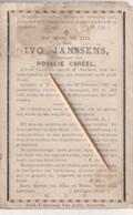 Nazareth, Seevergem, 1898, Ivo Janssens, Careel - Devotieprenten