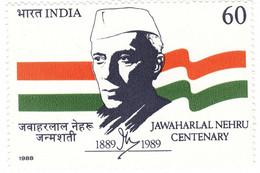 INDIA 1988 STAMP PANDIT JAWAHARLAL NEHRU  . MNH - Neufs