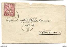 I - 60 - Enveloppe Avec Supebe Cachets à Date Chexbres 1879 - Briefe U. Dokumente