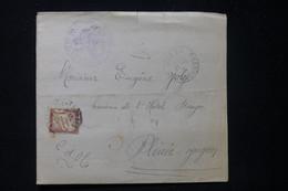 FRANCE - Taxe De  Plenée Sur Avis De Tribunal De Jugon En 1931  - L 90572 - Lettres Taxées