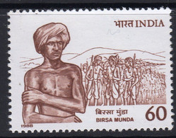 INDIA 1988 STAMP BIRSA MUNDA (FREEDOM FIGHTER)  . MNH - Neufs