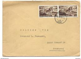 I - 76 - Enveloppe Avec Superbe Cachet à Date Yverdon Gare 1941 - Briefe U. Dokumente