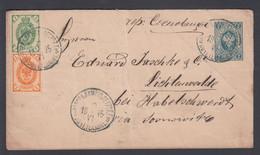 1895. RUSSIA. Small ENVELOPE 7 KOP (size 145 X 81 Mm) + 2 + 1 KOP To Lichtenwalde, Ge... () - JF369223 - Briefe U. Dokumente