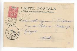 POSTE MARITIME MARTINIQUE Cachet Octogonal LIGNE A Paq.fr.n°2 Sur 10c Martinique 1904    .....G - Autres