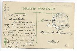MARINE NATIONALE Guerre 14 18 Cachet Bleu Croiseur Cuirassé Edgar QUINET 7 Mai 1915   .....G - Autres