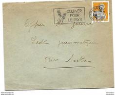 """I - 96 - Enveloppe Avec Oblit Mécanique """"Cultiver Pour Le Pays"""" 1944 - Briefe U. Dokumente"""