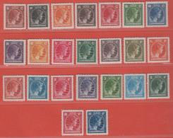 1944 / Nov 1946  Luxemburg  ** (sans Charn., MNH, Postfrisch) Mi  347/69 - Nuevos