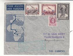 Belgique - Lettre De 1935 ° - Oblit Bruxelles - Exp Vers Mozambique - Vol Bruxelles Elisabethville- Cachet De Madagascar - Covers & Documents