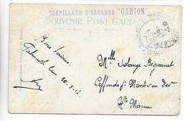 MARINE MILITAIRE Griffe Violette TORPILLEUR D'ESCADRE GABION 1912   .....G - Autres