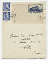 N° 340 BDF + MERCURE PAIRE LETTRE C. PERLE VALROS 2.7.1942 - 1921-1960: Moderne