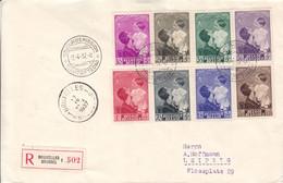 Belgique - Lettre Recom FDC De 1937 ° - Oblit Bruxelles - Exp Vers Leipzig-Reine Astrid Et Prince Baudouin-valeur 50€ ++ - Covers & Documents