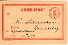 Norwegen 1891, Sauber Gebr. Jernbane-Brevkort M. Wertstempel Norges Statsbaner - Unclassified
