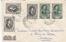 Belgique - Lettre De 1941 - Oblit Bruxelles - Exp Vers Andenne - - Cartas