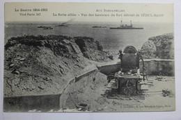 CPA La Guerre 1914 1915 Aux Dardanelles La Flotte Alliée Vue Des Hauteurs Du Fort Détruit De SEDUL BAHR - TOX03 - War 1914-18