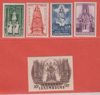 1945 Luxemburg  ** (sans Charn., MNH, Postfrisch)  Yv  367/71Mi  382/6 - Nuevos