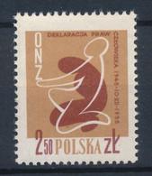 POLEN / POLAND / POLSKA  -  1958  ,   10. Jahrestag Erklärung Der Menschenrechte  -  Michel  1078  MNH / ** - Unused Stamps