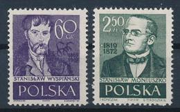POLEN / POLAND / POLSKA  -  1958  ,   Persönlichkeiten - St. Wyspianski , St. Moniusko  -  Michel  1076/77  MNH / ** - Unused Stamps