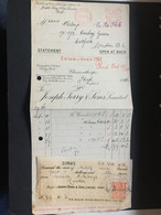 GB George V Receipt 1926 - Joseph Terry & Sons Clemehorpe To London - 3 Scans - Covers & Documents