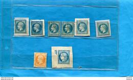 Lot De 8 Timbres 7 Napoléon III+1 Cérès-N°22-23-29+60 Cérès Neufs Non Oblit/ Fragment De Lettres Ou Charnière - Sin Clasificación