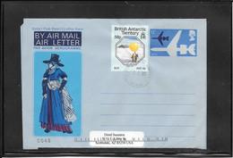 British Antartic Territory Postal Stat. To Arizona (Ref 4117) - Cartas