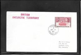 British Antartic Territory Postal Stat. To Australia (Ref 4118) - Cartas