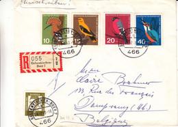 Allemagne - République Fédérale - Lettre Recom De 1963 - Oblit Geldenkirchen Buer - Oiseaux - Valeur 8,40 Euros - Covers & Documents