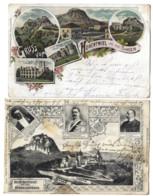 Allemagne - Lot De 2 CPA - HOHENTWIEL Und Aus SINGEN -  - 1901 Et 1907 - Singen A. Hohentwiel