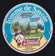 """étiquette Fromage Tomme De Savoie 20%mg Le Fromager Du Génevois St Julien En Genevois  Hte Savoie 74 """" Vache, Paysan"""" - Cheese"""