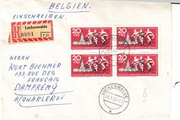 Allemagne - République Démocratique - Lettre Recom De 1962 - Oblit Luckenwalde - Cyclisme - - Briefe U. Dokumente